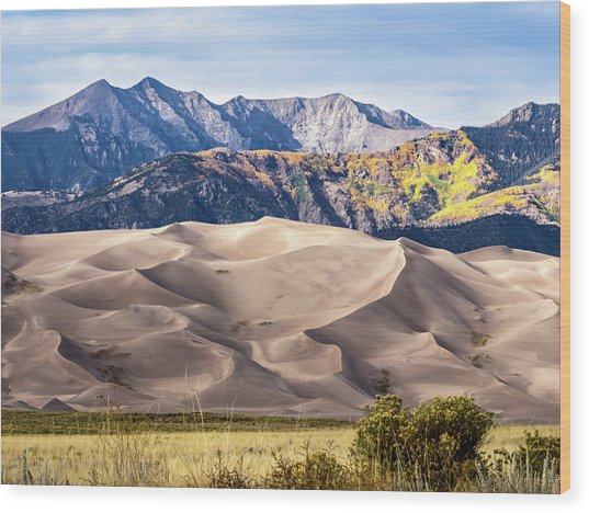Great Sand Dunes Of Southern Colorado Wood Print