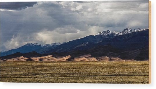 Great Sand Dunes Panorama Wood Print