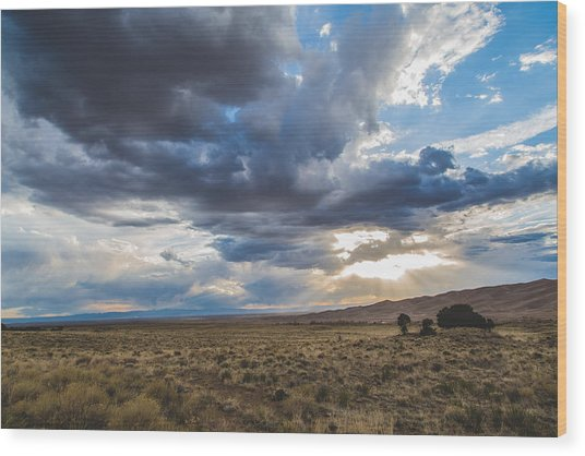 Great Sand Dunes Stormbreak Wood Print