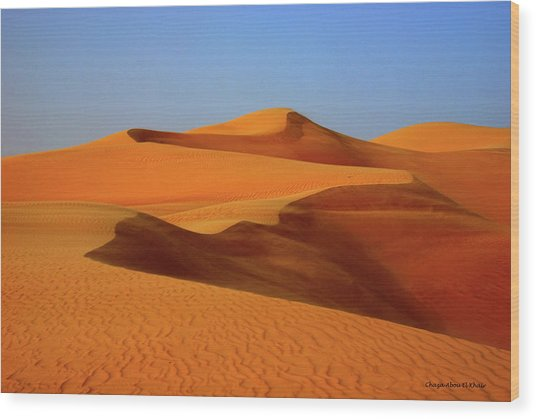 Great Sand Sea Wood Print by Chaza Abou El Khair