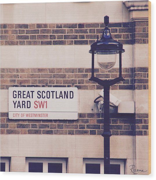 Great Scotland Yard Wood Print