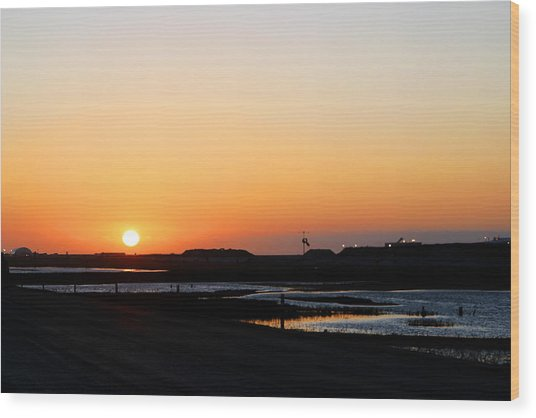 Greater Prudhoe Bay Sunrise Wood Print