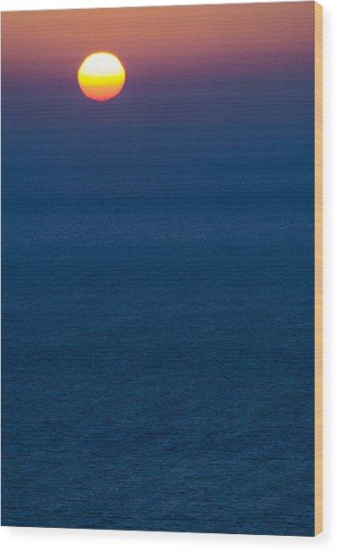 Greek Sunset Wood Print