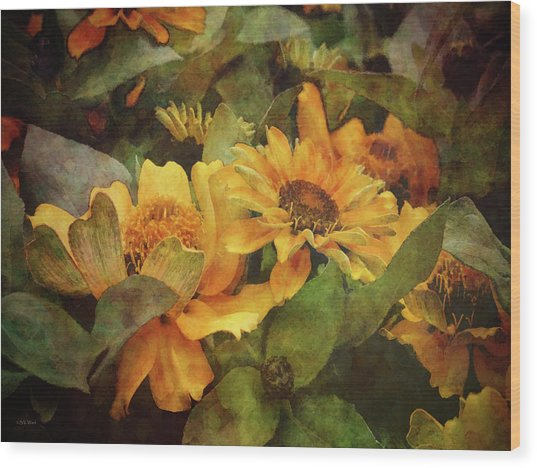 Green And Gold 1068 Idp_2 Wood Print