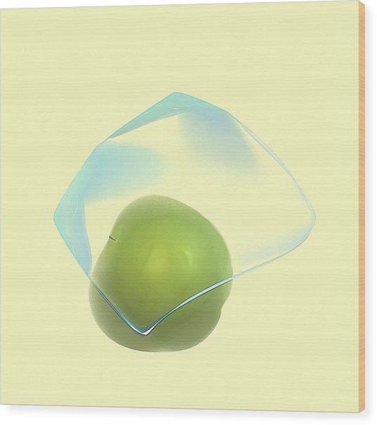 Green Apple  Wood Print by Viktor Savchenko