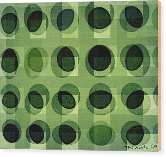Green Astigmatism Wood Print by Teodoro De La Santa