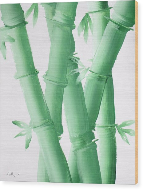 Green  Bamboo Wood Print