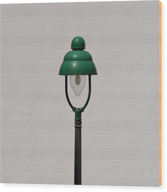 Green Bavarian Lamp Wood Print