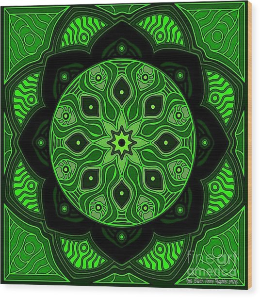 Green Beauty Wood Print