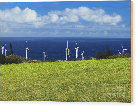 Green Energy Wood Print