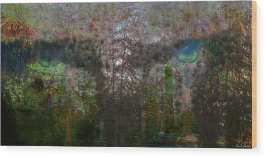 Green Eyes' Reflections Wood Print by Carole Guillen