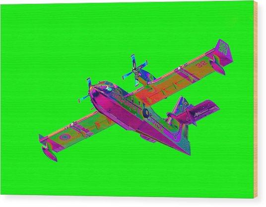 Green Fire Flight  Wood Print