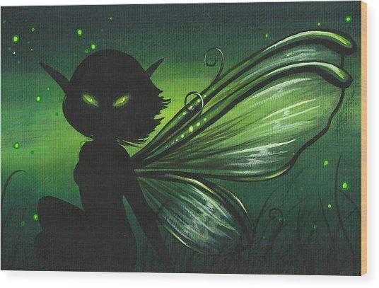 Green Glow Wood Print by Elaina  Wagner