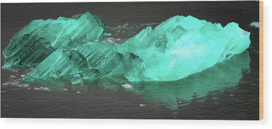 Green Iceberg Wood Print
