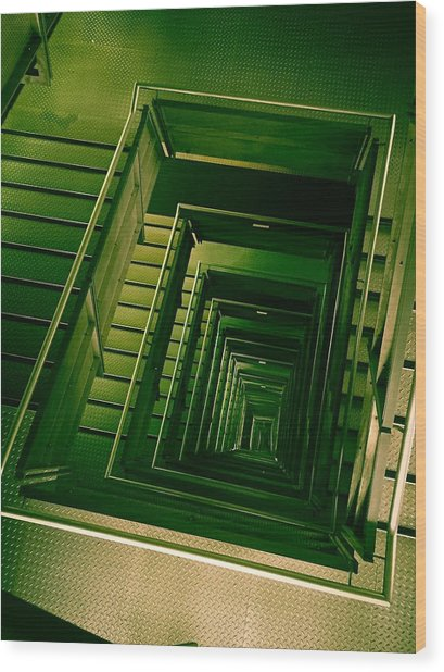 Green Infinity Wood Print