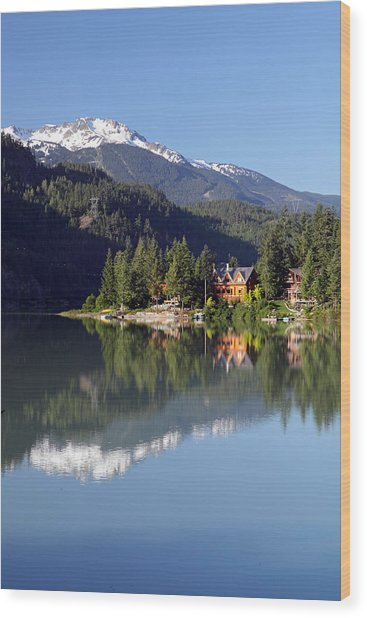 Green Lake Whistler  Wood Print by Pierre Leclerc Photography
