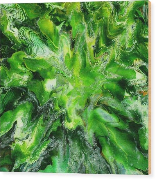 Green Leaf Wood Print by Paul Tokarski