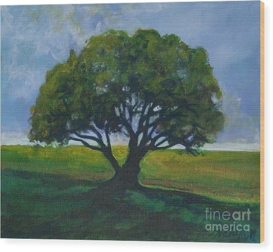 Green Oak Wood Print by Michele Hollister - for Nancy Asbell