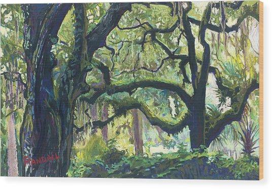 Green Oaks Wood Print