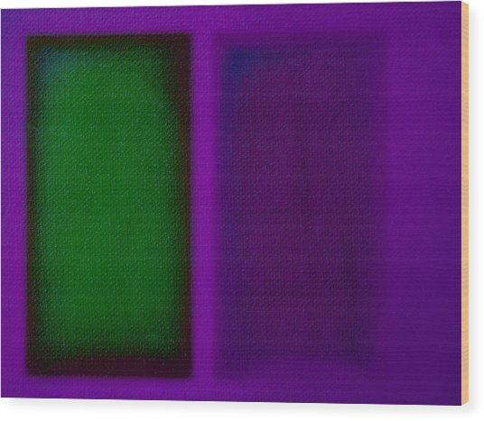 Green On Magenta Wood Print