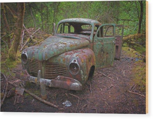 Green Relic Wood Print
