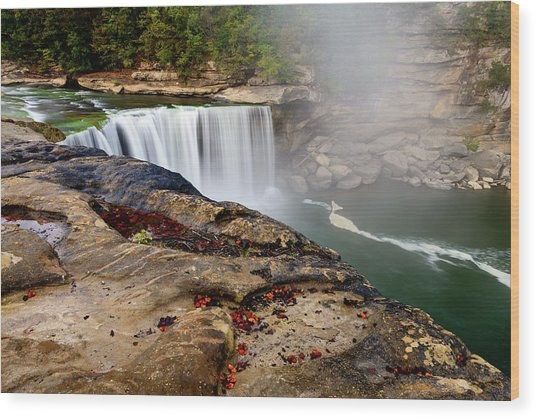 Green River Falls Wood Print