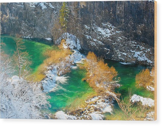 Green River Wood Print