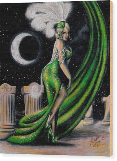 Green With Envy Wood Print by Scarlett Royal