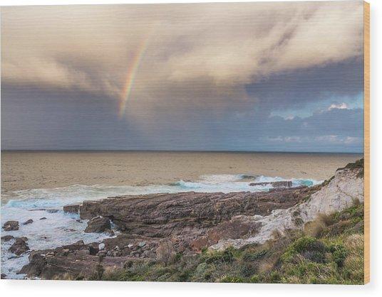 Green Cape Rainbow Wood Print