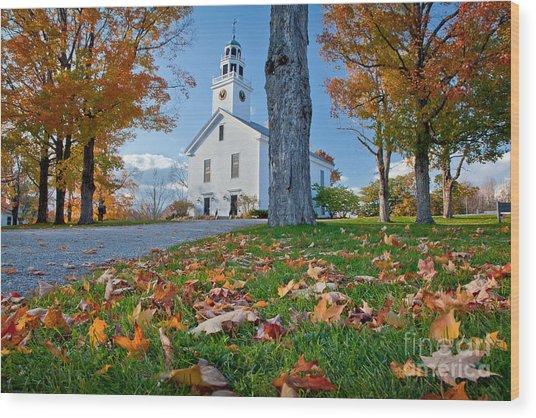 Greenfield Church Wood Print