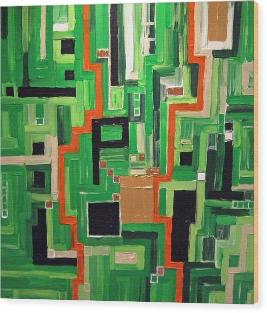 Greens Wood Print by Katerina Wagner