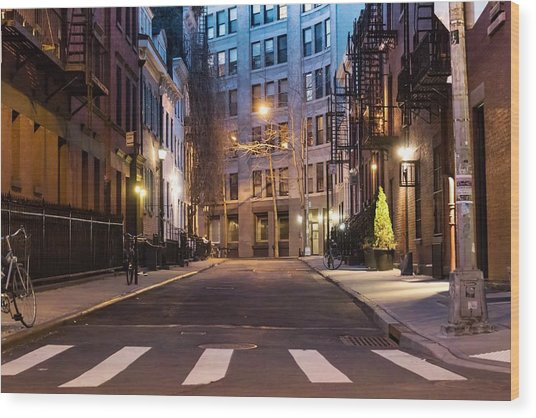 Greenwich Village Wood Print