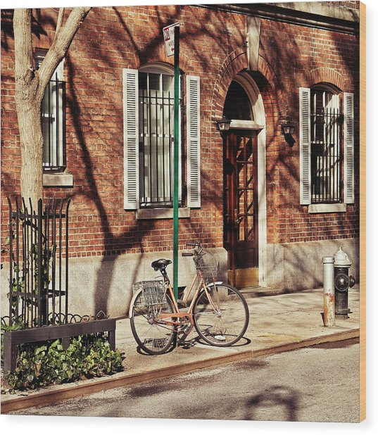 Greenwich Village Wood Print by Benjamin Matthijs