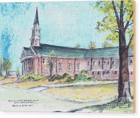 Greer United Methodist Church Wood Print