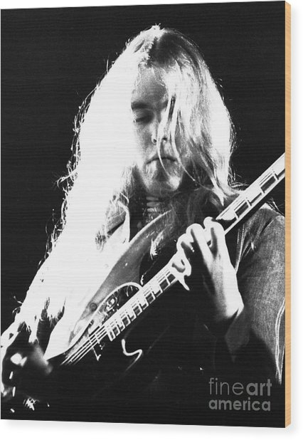 Gregg Allman 1974 Wood Print