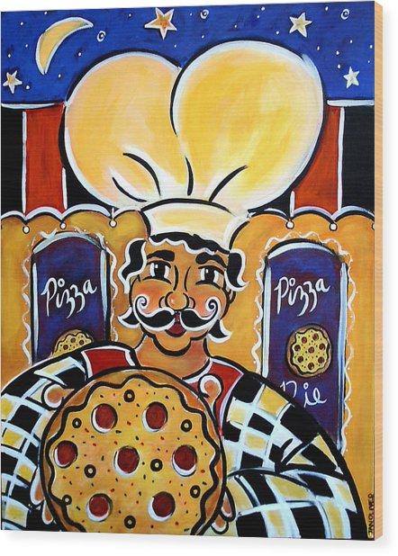 Gregorios Pizzeria Wood Print