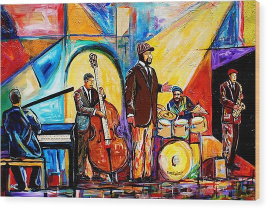 Gregory Porter And Band Wood Print