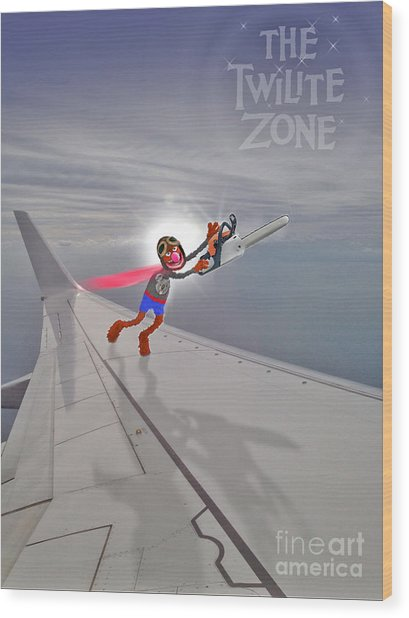 Nightmare At 20,000 Feet Wood Print