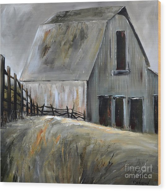 Grey Barn Wood Print
