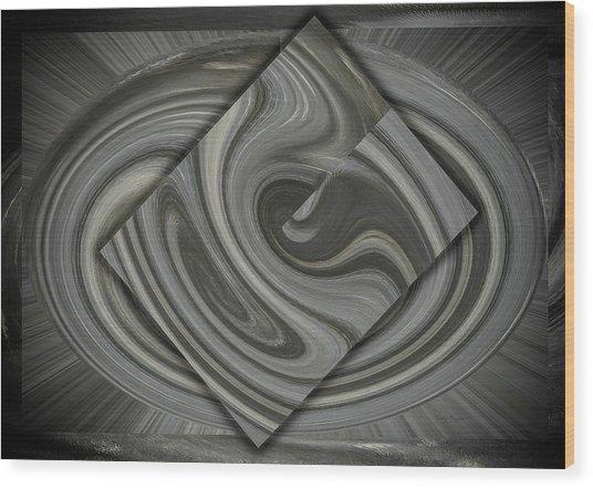 Grey On Grey Wood Print