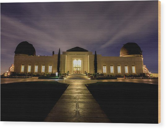 Griffith Observatory Wood Print by Robert Aycock