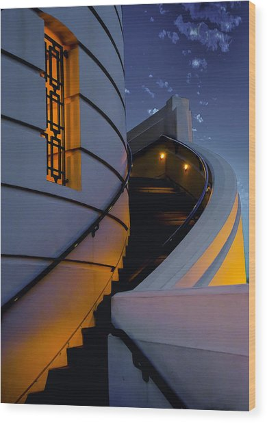 Griffith Observatory Side Entrance Wood Print