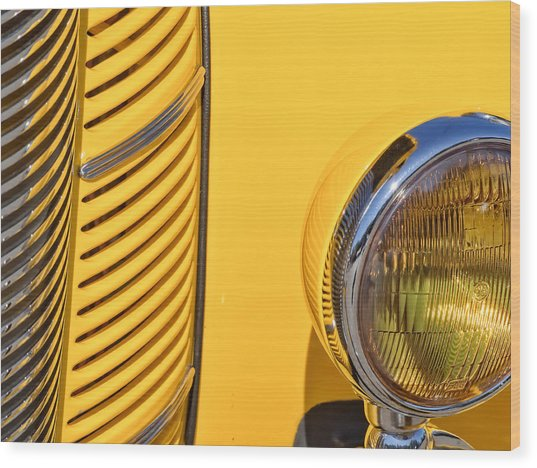 Grilled Chrome To Yellow Wood Print