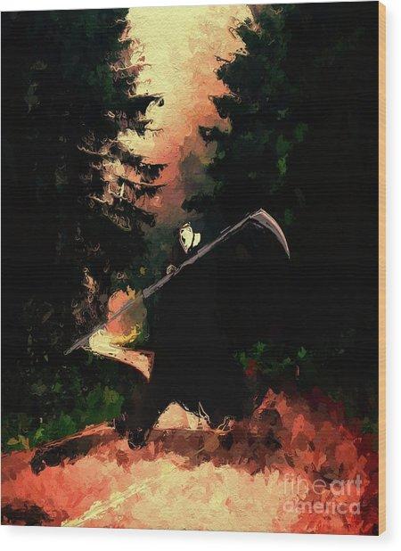 Grim Death Beckons Wood Print