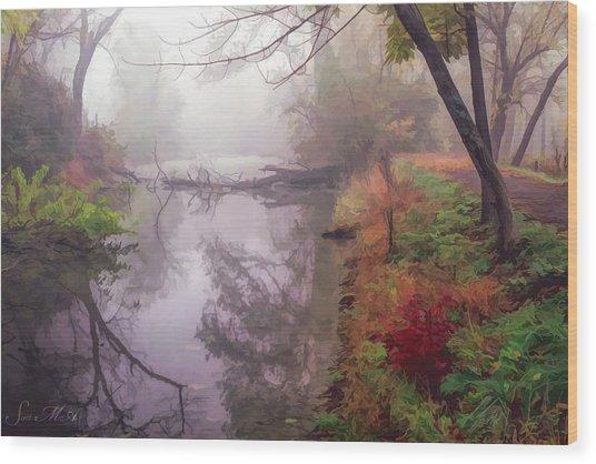 Grings Mill Fog 015 Wood Print