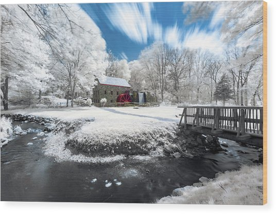 Grist Mill In Halespectrum Wood Print
