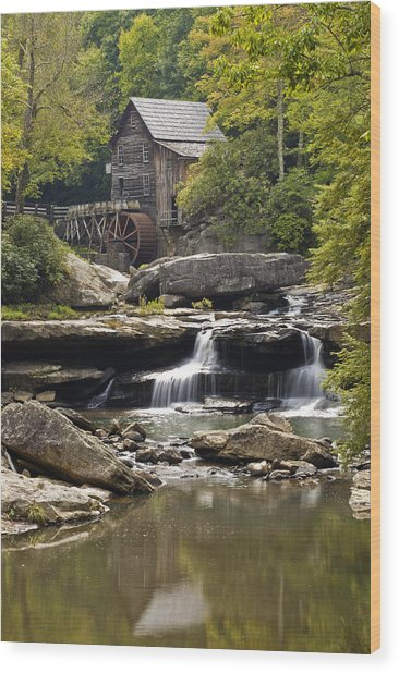 Grist Mill No. 1 Wood Print by Harry H Hicklin