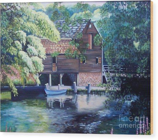 Grist Mill Philipsburg N Y Wood Print