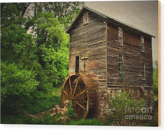 Gristmill  Wood Print