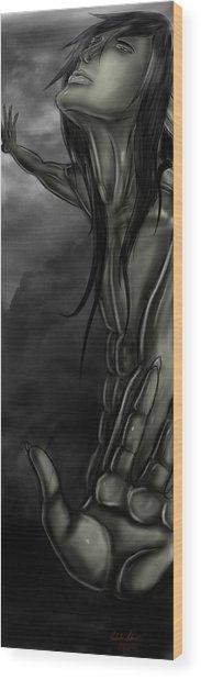 Grit Heavenwards Wood Print by Nicholas Sharpe
